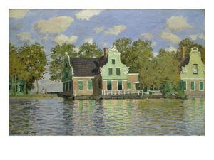 Houses on the Bank of the River Zaan, 1871/72 by Claude Monet
