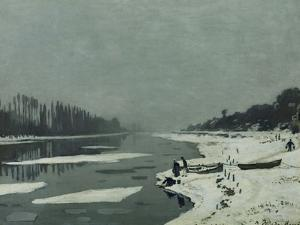 Ice Floes on the Seine at Bougival, Around 1867 by Claude Monet