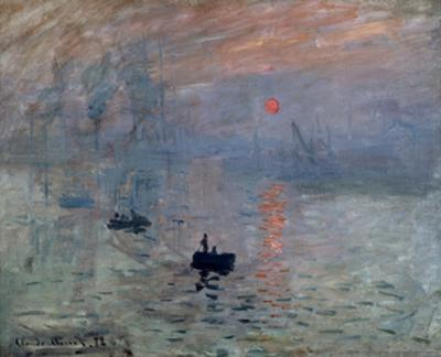 Impression, Sunrise, 1872 by Claude Monet