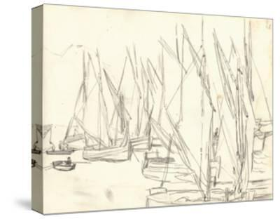 In the Port at Honfleur (Pencil on Paper)