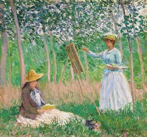 In the Woods at Giverny, 1887 by Claude Monet