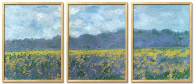 Iris Fields at Giverny by Claude Monet
