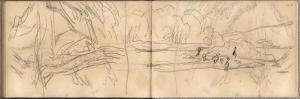Island of Nettles at the Mouth of the Epte (Pencil on Paper) by Claude Monet