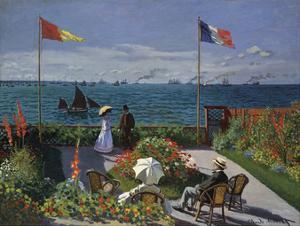 Jardin a? Sainte-Adresse, 1866/1867 by Claude Monet