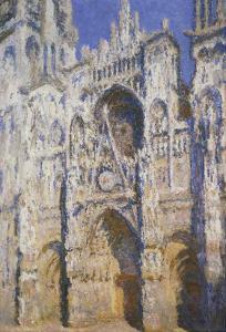 La Cathédrale De Rouen, Le Portail Et La Tour Saint-Romain, Plein Soleil, Harmonie Bleue Et by Claude Monet
