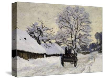 La Charrette, Route Sous La Neige À Honfleur, Cart, the Honfleur Road under Snow