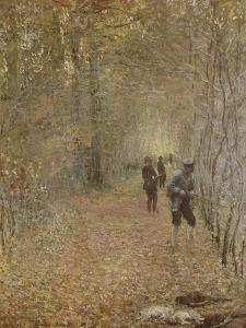 La chasse by Claude Monet