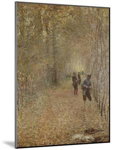 La chasse by Claude Monet