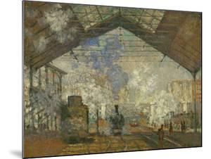 La Gare Saint Lazare, 1877 by Claude Monet
