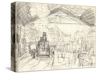La Gare Saint-Lazare (On the Suburban Side) (Pencil on Paper)