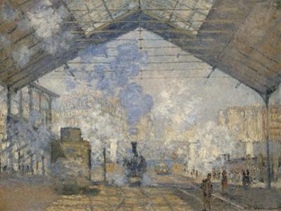 La gare Saint-Lazare by Claude Monet