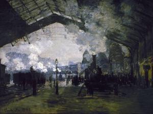 La gare St Lazare by Claude Monet