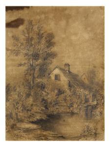 La Lezarde Shores, 1856 (Black Pencil) by Claude Monet