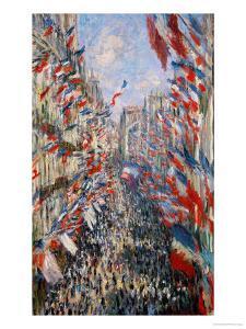 La Rue Montorgeuil, Paris, During the Celebrations of June 30, 1878 by Claude Monet