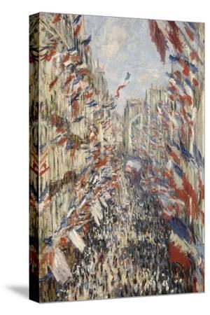 La Rue Montorgueil à Paris fête du 30 juin 1878