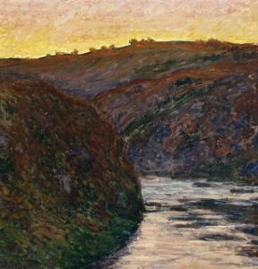 La Vallée de la Creuse, soleil couchant by Claude Monet