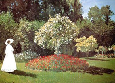 Lady in a Garden