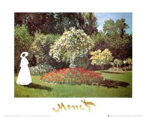 Lady in a Garden by Claude Monet