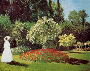 Lady in a Garden by Claude Monet