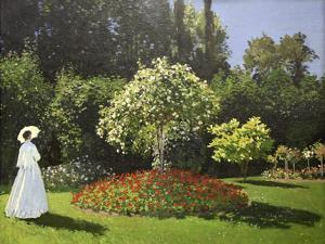 Lady in the Garden, 1867 by Claude Monet