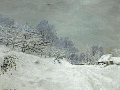 Landscape Around Honfleur, Snow, circa 1867 by Claude Monet