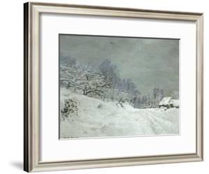 Landscape Around Honfleur, Snow, circa 1867 by Claude Monet