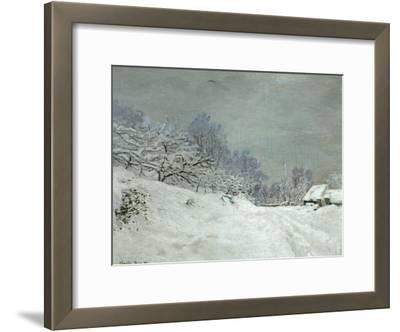 Landscape Around Honfleur, Snow, circa 1867