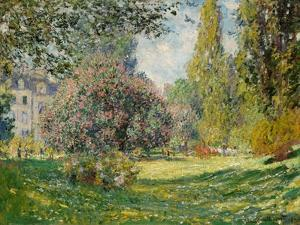 Landscape: The Parc Monceau, 1876 by Claude Monet