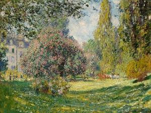 Landscape-The Parc Monceau by Claude Monet