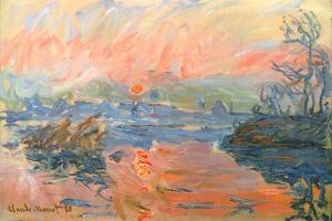 Lavacourt Sunset by Claude Monet