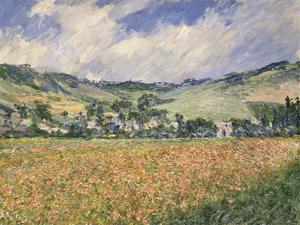 Le champ des coquelicots (environs de Giverny). by Claude Monet