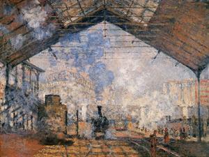 Le Gare du Nord by Claude Monet