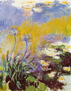 Les Agapanthes by Claude Monet