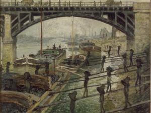 Les Déchargeurs de charbon by Claude Monet