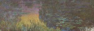 Les Nymph� : Soleil couchant by Claude Monet