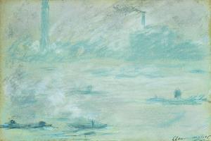 London, Boats on the Thames; Londres, Bateaux Sur La Tamise, 1901 by Claude Monet
