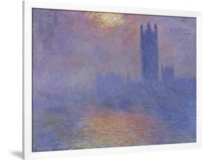 London Parliament in the Fog, c.1904 by Claude Monet