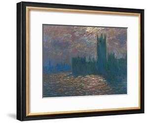 London, the Parliament; Reflections on the Thames River, 1899-1901 by Claude Monet