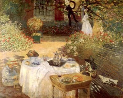 Luncheon in the Garden by Claude Monet