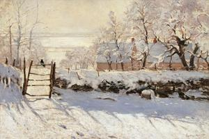 Magpie by Claude Monet