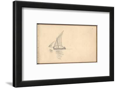 Mediterranean Sailing Boat, C.1884 (Pencil on Paper)