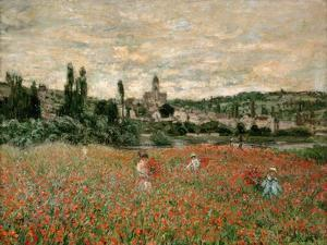 Mohnfeld Bei Vetheuil. Ca.1880 by Claude Monet