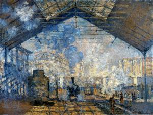 Monet: Gare St-Lazare, 1877 by Claude Monet