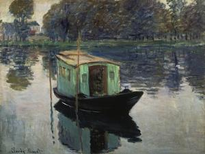 Monet's Studio-Boat, 1874 by Claude Monet