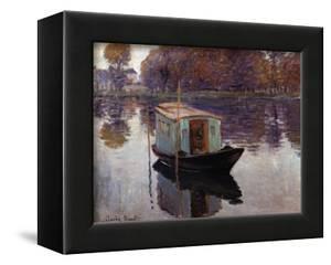 Monet's Studio Boat by Claude Monet