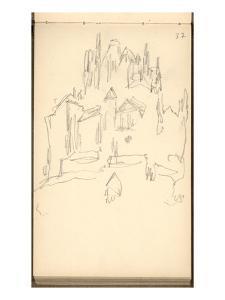 Mont Saint-Michel (Pencil on Paper) by Claude Monet