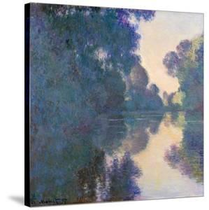 Morning on the Seine Near Giverny by Claude Monet