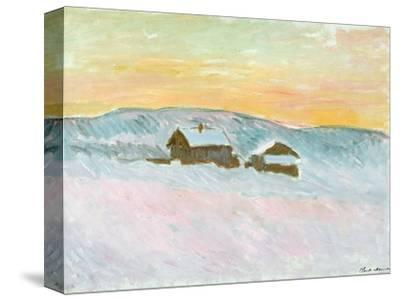 Norwegian Landscape, Blue Houses, 1895