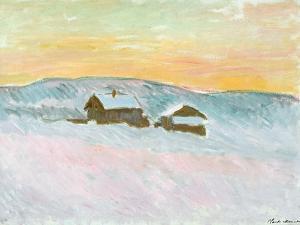 Norwegian Landscape, Blue Houses, 1895 by Claude Monet