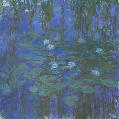 Nymphéas bleus by Claude Monet